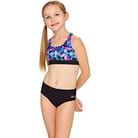 Zoggs Kitch Chaos Muscleback bikini Kinderen zwart/bont